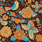 Fauna And Flora In Autumn Pattern Design