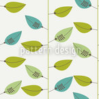 Leaf On Strings Seamless Vector Pattern Design