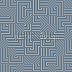 Geometric Maze Seamless Vector Pattern