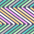 Ribbons In Zig Zag Seamless Vector Pattern Design