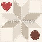 Herzliches Stern Patchwork  Muster Design