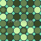 Star Mosaic Vector Pattern
