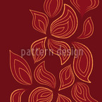 Fire Leaves Seamless Vector Pattern Design