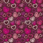 Hearts Awake Seamless Vector Pattern Design