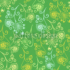 Floral Spring Feelings Seamless Vector Pattern Design
