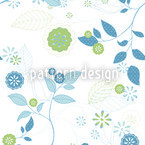 Spring Message Seamless Vector Pattern Design
