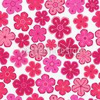 Hübsche Blumen Fräulein Designmuster