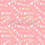 I Love U Vektor Muster