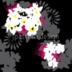 Beach Flowers Seamless Vector Pattern Design