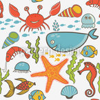 Happy Ocean Seamless Vector Pattern Design