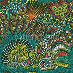 Riffgarten Des Meereskönigs Nahtloses Muster