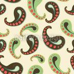 Softeis Paisley Nahtloses Vektor Muster