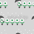 Flowers In The Rain Seamless Vector Pattern Design