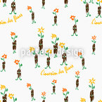 Invasion Des Fleurs Seamless Vector Pattern Design