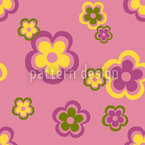 Party Flowers Of The Seventies Seamless Vector Pattern Design