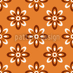Aurora Flowers Seamless Vector Pattern Design