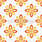 Sun Flowers Seamless Vector Pattern Design