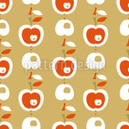 Apples In Caramel Seamless Vector Pattern Design