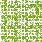 Philodendron Seamless Vector Pattern Design