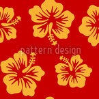 Hibiscus Greetings From Hawaii Seamless Vector Pattern Design
