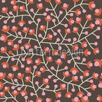 Nordic Floral Seamless Vector Pattern Design