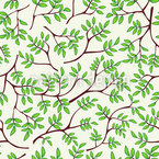 Fine Branches Seamless Vector Pattern Design