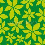 Junge Kastanienblätter Nahtloses Vektormuster