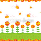Happy Bees Seamless Vector Pattern Design