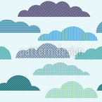 Wolken Patchwork Nahtloses Vektor Muster