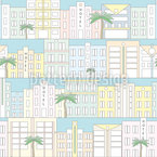 Miami Beach Estampado Vectorial Sin Costura