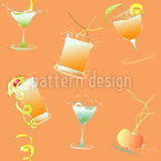 Happy Hour Design de padrão vetorial sem costura