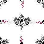 Yin Yang Drache Nahtloses Vektormuster
