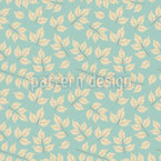Maple Leaves In Winter Dress Vector Pattern