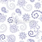 Paisley Baroque Seamless Vector Pattern Design
