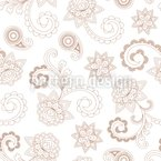 Henna Baroque Seamless Vector Pattern Design