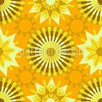 Kreise Im Sonnenlicht Nahtloses Vektormuster