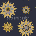 Retro Star Romance Pattern Design