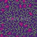 Florale Nacht Nahtloses Muster