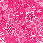 Strawberry Secret Estampado Vectorial Sin Costura