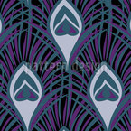 Nocturnal Peacock Feathers Seamless Vector Pattern Design
