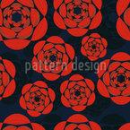 夜のバラ シームレスなベクトルパターン設計