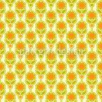 Siebzig Blumen Nahtloses Vektormuster