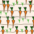 Patch Of Carrots Seamless Vector Pattern Design