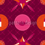 Pinkfarbener Schminkkasten Nahtloses Vektormuster