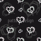 Heart In Peace Seamless Vector Pattern Design