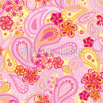 Endless Summer Of Paisley Seamless Vector Pattern Design