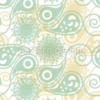 Paisleys de printemps Motif Vectoriel Sans Couture