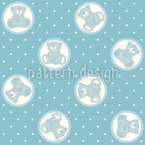 Baby Timmys Teddy Bear Seamless Vector Pattern Design