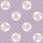 Baby Lauras Teddy Bear Vector Pattern