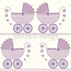 Baby Lauras Buggy Seamless Vector Pattern Design